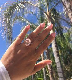 Real E-Rings: Morganite Engagement Rings Colored Engagement Rings, Handmade Engagement Rings, Unique Diamond Engagement Rings, Morganite Engagement, Engagement Jewelry, Vintage Engagement Rings, Unique Rings, Unique Jewelry, Peach Sapphire Rings