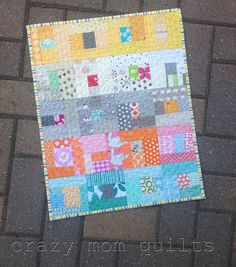 crazy mom quilts: mini high five. use the cloud fabric as backing for this.
