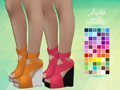 Aveira's Sims 4, Madlen's Kirza Shoes - Recolor 66 Colors ...