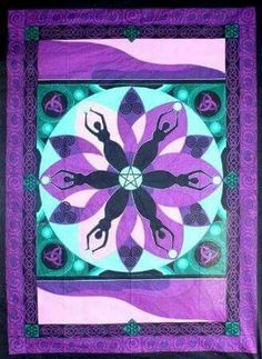 Goddess Tapestry $35 www.witchesink.ca #goddess #moon #purple #tapestry