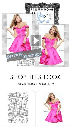 """""""A Line Sherri Hill 50815 Fuchsia Beaded Short Homecoming Dress"""" by homecomingqueendress ❤ liked on Polyvore featuring Sherri Hill, Prom, dress, cocktail, evening and Homecoming"""