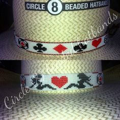 "Beaded hat band, Circle (8) Beaded Hatbands"" like us on Facebook"