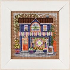 Mill Hill Fabric Shoppe Cross Stitch Kit - Button & Bead Spring Series