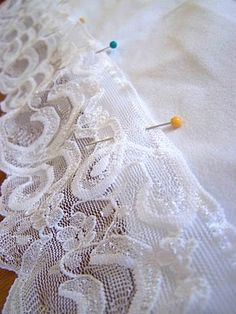 Lace Trimmed T-shirt extender. (This tutorial is for a pregnancy belly band, but it is the same principal as ordinary t-shirt extenders.)
