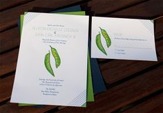 Two Peas Invitation and RSVP via Etsy