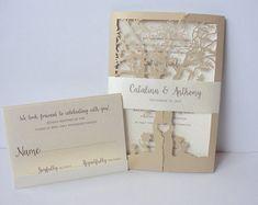 Laser Cut Wedding Invitation Blush Por Lavenderpaperie1 Ideas One Day Pinterest Invitations Invites