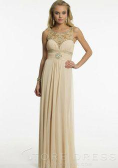 Stylish Scoop Floor-length Ruching Prom Dress 2014 New - Storedress.com on Wanelo