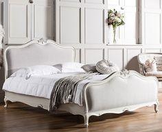Sandbanks White 5ft Kingsize Upholstered French Bed