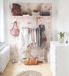 open wardrobe - Home Decor Ikea Mulig, Diy Closets, Old Fashioned House, Open Wardrobe, Dream Decor, My Room, Home And Living, Diy Furniture, Bedroom Decor