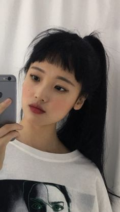 asian makeup – Hair and beauty tips, tricks and tutorials Aesthetic People, Aesthetic Girl, Hair Inspo, Hair Inspiration, Hairstyles With Bangs, Cool Hairstyles, Japonese Girl, Peinados Pin Up, Asian Makeup