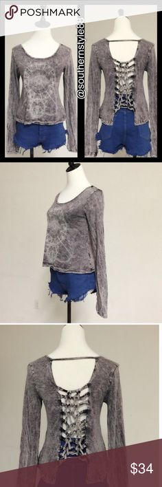 Loose Fit Top XLarge BNWT Mineral Washed Long Sleeve Top. Made In USA. XL BNWT 75% Cotton 25% Poly. ⛔️PP/Trades  ✅Offers Considered ✅Bundle Discounts April Spirit Tops Tees - Long Sleeve