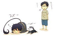 Yukio walked in on Rin and Kuro napping. XD