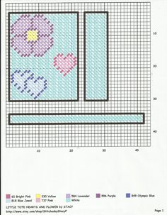 Little Tote Hearts & Flowers Plastic Canvas Ornaments, Plastic Canvas Crafts, Plastic Canvas Patterns, Canvas 5, Canvas Purse, Canvas Totes, Canvas Bags, Plastic Baskets, Tote Pattern