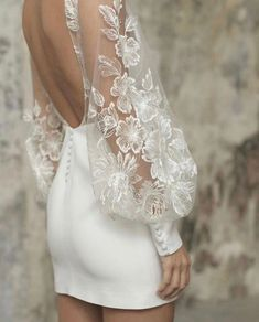 Mini Wedding Dresses, Bridal Dresses, Wedding Gowns, Prom Dresses, Elegant Dresses, Pretty Dresses, Beautiful Dresses, Civil Wedding, Long Sleeve Wedding