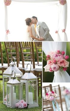 Yvonne Design does beautiful weddings!  The pink roses and peonies are such a femine touch.