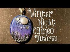 ▶ Winter Night Cameo Polymer Clay Tutorial / Velvetorium - YouTube