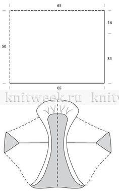 Воздушная накидка из мохера - Выкройка 1