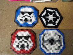 Star Wars coasters perler bead sprites