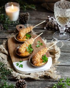 Gourmet Food Plating, Gourmet Appetizers, Mini Appetizers, Gourmet Recipes, Cooking Recipes, Canapes Recipes, Appetizer Recipes, Tapas Menu, Food On Sticks