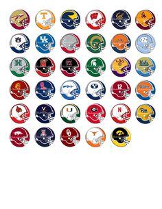 College Football Logos Printable Digital Collage by shadowdancer2, $3.00