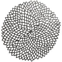 American Made, gorgeous, Chilewich Gunmetal Pressed-Dahlia Placemat   Sur La Table