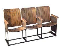 Banco de cine con 3 asientos