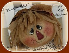 "or Round ""Rag Doll"" Head Tutorial from Old Road Primitives Scarecrow Face Paint, Scarecrow Doll, Scarecrow Crafts, Scarecrows, Scarecrow Ideas, Primitive Fall, Primitive Crafts, Fall Halloween, Halloween Crafts"