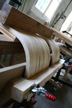 cintrage de bois massif à la vapeur - Christophe Bret