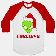 I Believe Christmas Aliens #giftideas #christmasshirt #christmassweater #hoodie #christmas #xmas #hocubed #ho3 #hohoho #lookhuman #mathhumor #math #science #nerd #nerdy #geek #geeky #geekgift #funny #humor #mathjokes #xfiles #alien #aliens #x-files #scully #mulder #foxmulder