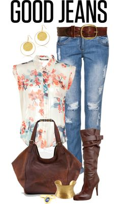 """Good Jeans"" by angela-windsor on Polyvore"