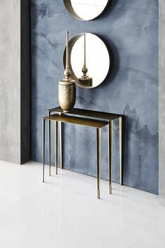 znajdziesz ją w salonie Italmeble a błękit w chłodnym błękitnym odcieniu - w salonie Kolor Koncept Consoles, Home Room Design, House Rooms, Interior Design, Bronze, Brass, Steel, Grey, Furniture