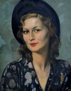 Portrait of a Midinette | From a unique collection of portrait paintings at https://www.1stdibs.com/art/paintings/portrait-paintings/