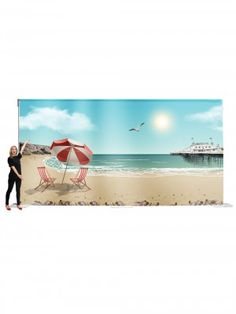 Event Prop Hire: Seaside Backdrop