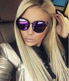 Flat Lens Hollow Top Sideral Mirror Metal Frames Women Men Sunglasses