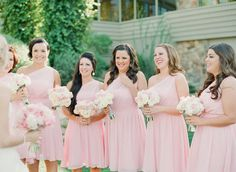 Bridesmaids bouquets mostly white with shades of pale pink, but do the bridal bouquet all white?
