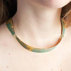 Patina Brass Necklace