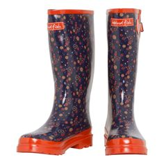 Bowland Floral Welly Weird Fish, Rubber Rain Boots, Lady, Floral, Clothes, Shoes, Women, Fashion, Tall Clothing