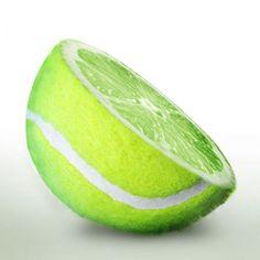 shaving lemons to look like tennis balls...