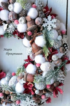 New Years Decorations, Festival Decorations, Christmas Decorations, Holiday Decor, Christmas Advent Wreath, Holiday Wreaths, Christmas Crafts, Country Christmas, All Things Christmas