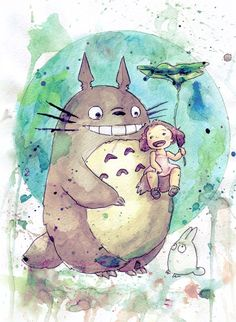 Totoro art So far, no hands do not reach to see this cartoon. A cartoon, among other things, a cult. See how much awesome artifacts at the network walks. Favorite Totoro.