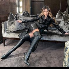 Sexy Boots, High Boots, Knee Boots, Heeled Boots, Leather Coats, Leather Gloves, Leder Outfits, Wet Look, Tall Women