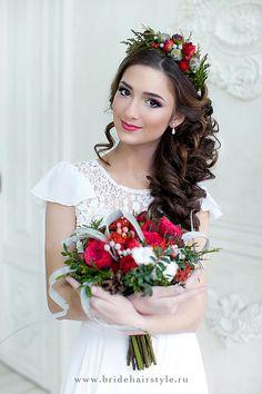 Свадебные прически с живыми цветами - Прическа Невесты