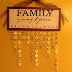 Family birthday board - I am making this for my wall of family photos!!!