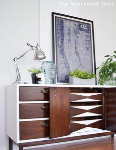 Hometalk | Fresh and Modern High Gloss Credenza With Geometric Drawers