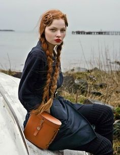Can't wait til my hair is that long so I can braid it like this and not look like I'm a pre-teen lol