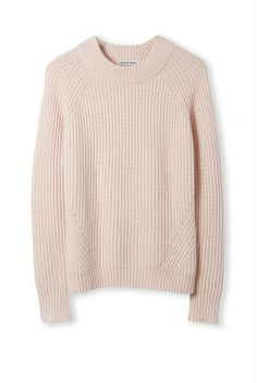 A luxurious, laid-back knit that suits a ponte skirt or a pair of jeans, this beautiful winter layer is crafted from a merino wool blend with contrast ribbing.