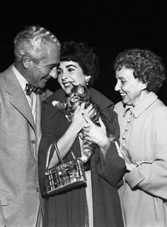 Elizabeth with her Mother and Father