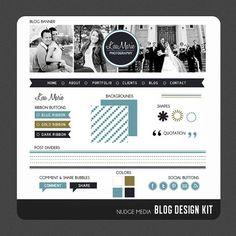Photography Blog Design Kit from Nudge Media Design.  #blogdesign