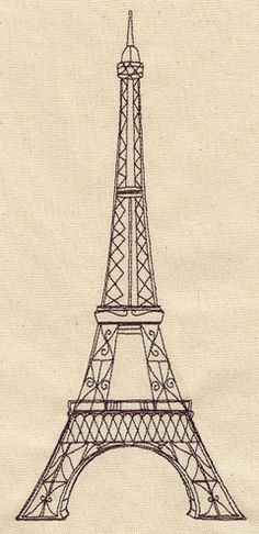 Embroidery Designs at Urban Threads - Vintage Eiffel Tower