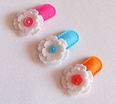 MAKE IT SHINE. Baby Hair Clips. Made in Felt. by ThePrettyOwl, $13.45